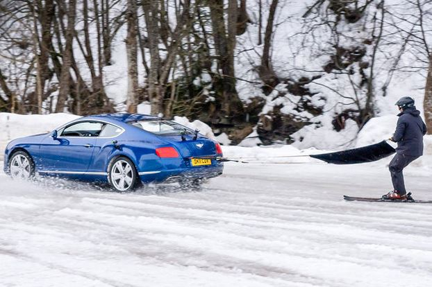 bentley continental ski sport hiver