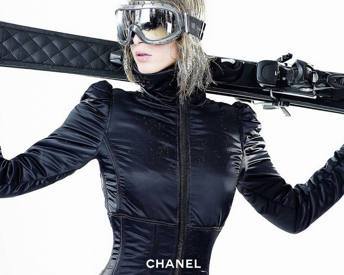 sport d'hiver en vetements ski chanel