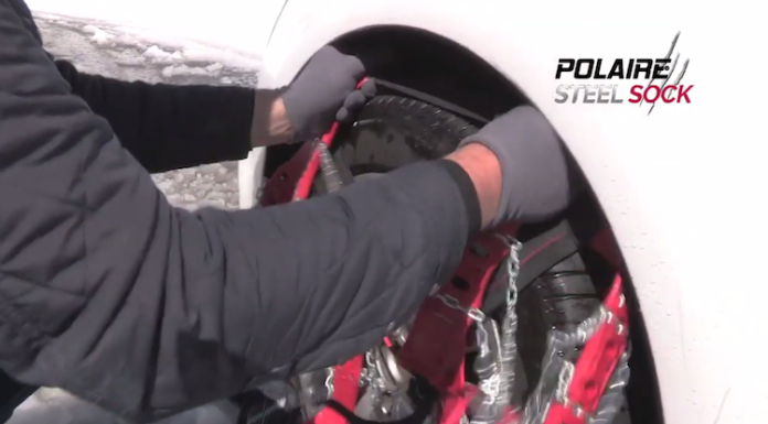 Installation des chaines Polaire Steel Sock