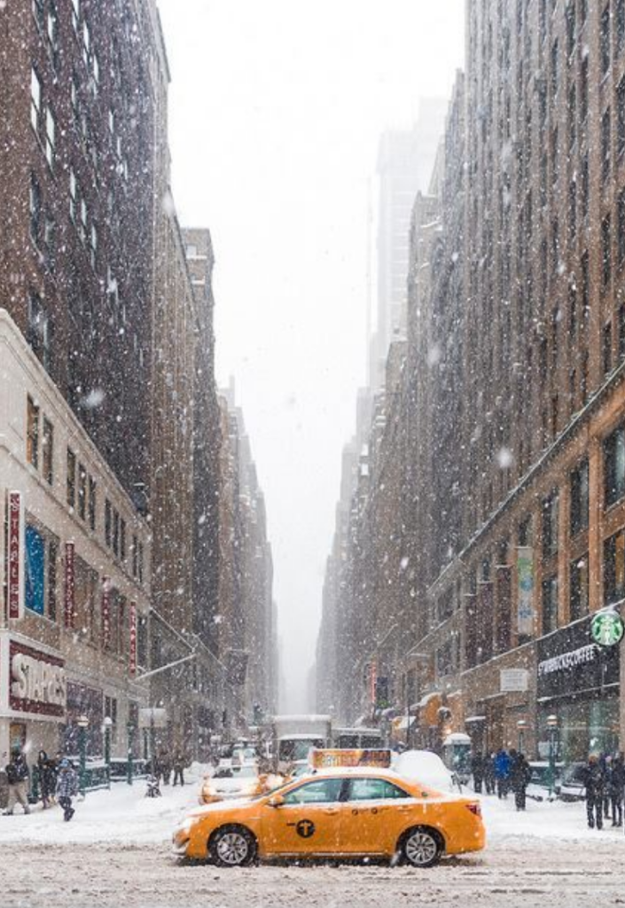 new york sous la neige plus belle ville